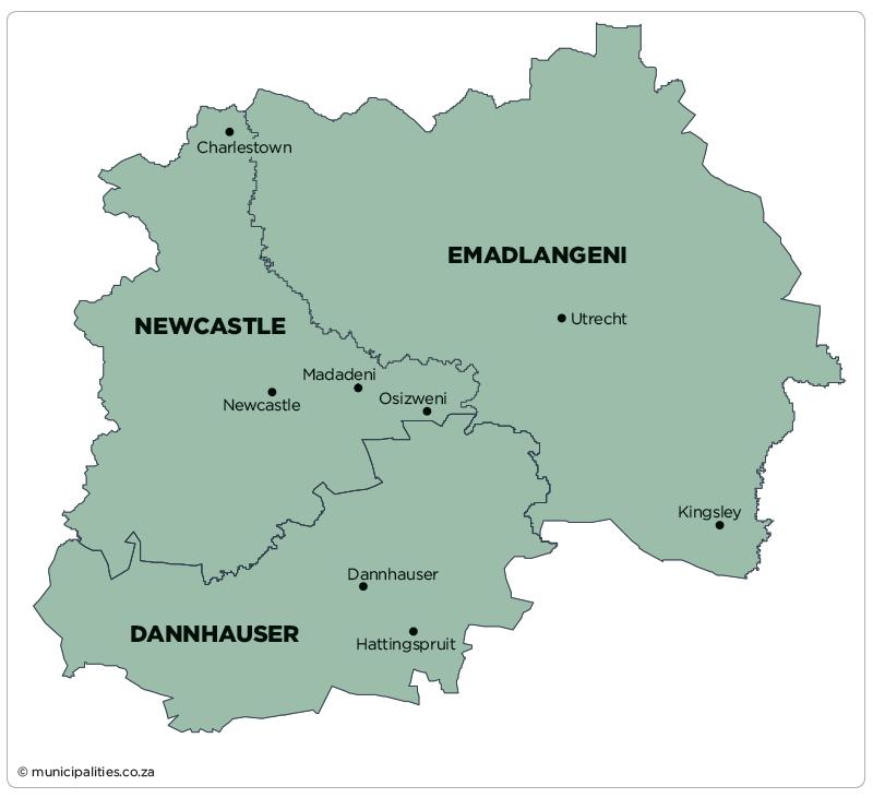 Newcastle Local Municipality   Map