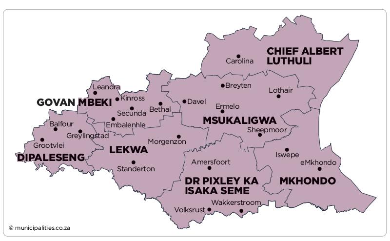 Dipaleseng Local Municipality - Map