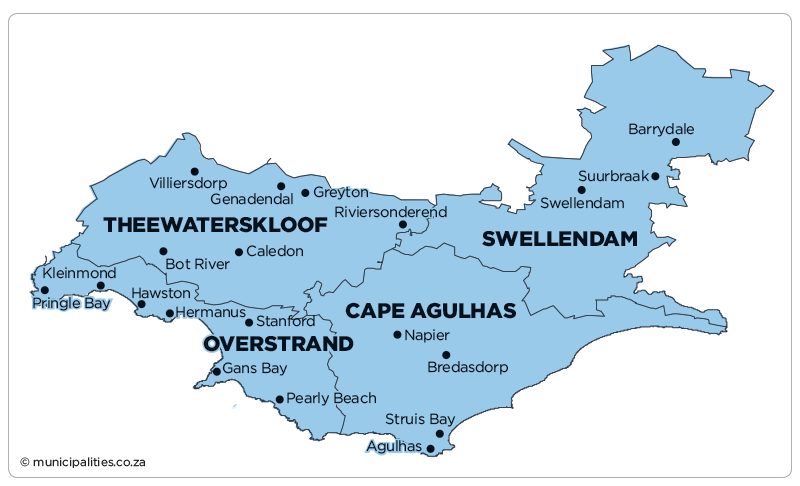 Swellendam Local Municipality   Map