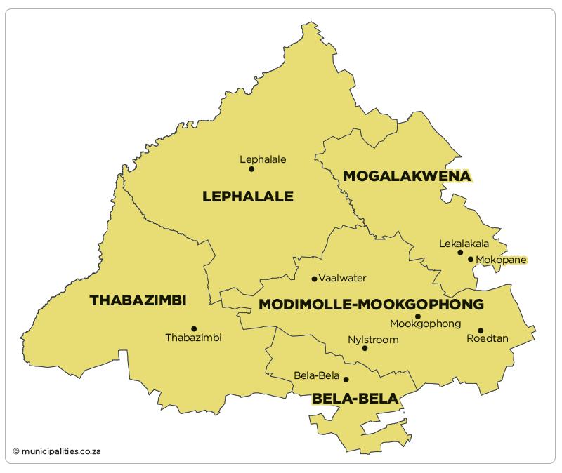 Thabazimbi Local Municipality   Map