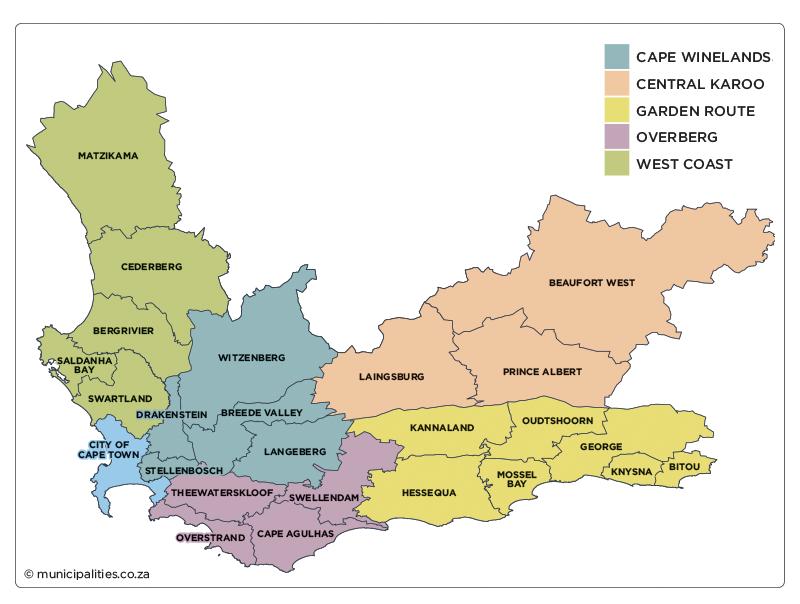 Western Cape Municipalities